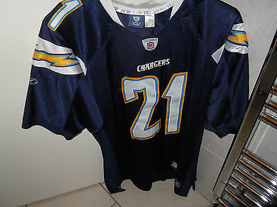 NFL EQUIPMENT Chargers Blue/White/Yellow American Football Jersey Size XL