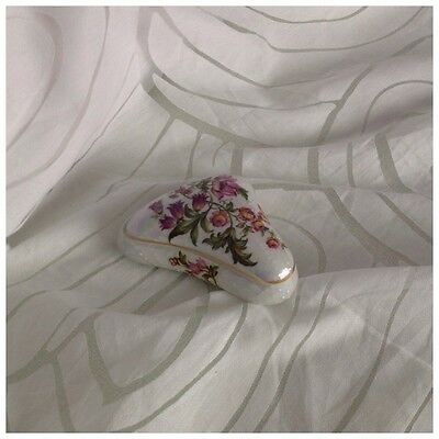 Limoges France Jewellery/Trinket Box, Floral with Lustre Finish, Stamped