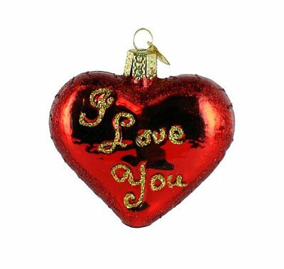 Old World Christmas I Love You Heart Ornament