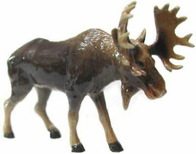 Northern Rose Miniature Porcelain Animal Figure Moose Standing R043