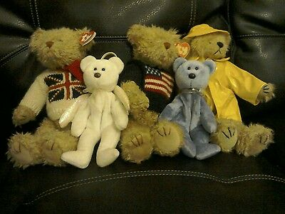 ty Beanie Bear Collection of Five