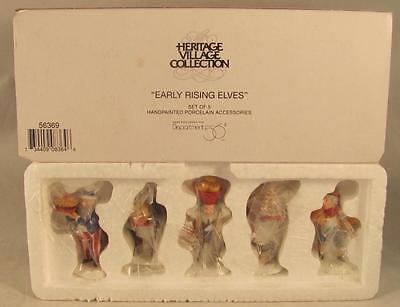 Dept 56 North Pole Early Rising Elves #56369 Set of 5