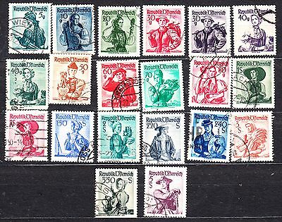 Austria 1948 Costumes Definitives To 5S