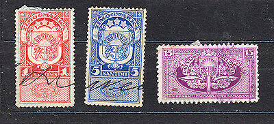 LATVIA 1930s FISCAL STAMPS