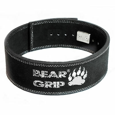 Bear Grip – Cow Hide Leather Weight Lifting Lever Buckle Powerlifting Belt