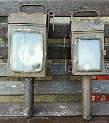 Vintage carriage/ train or horse lamps.
