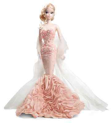 BARBIE Gold Label FASHION MODEL COLLECTION Mermaid Gown SILKSTONE Doll