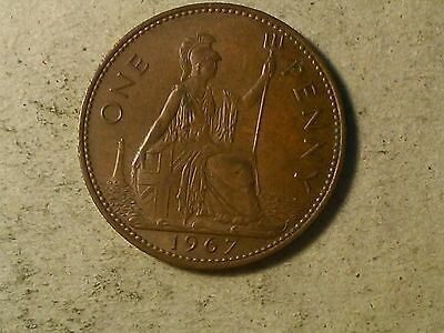 Great Britain. 1 penny  1967 QEII