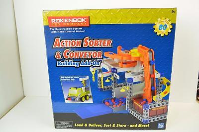 New in Box 2007 Rokenbok Action Sorter & Conveyor Building Add On 80pc Set