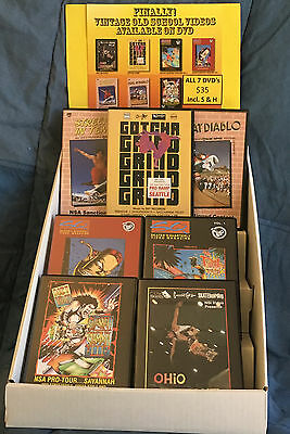 BOX SET COLLECTOR'S EDITION of 7 DVD's- 80'S VINTAGE old school skate