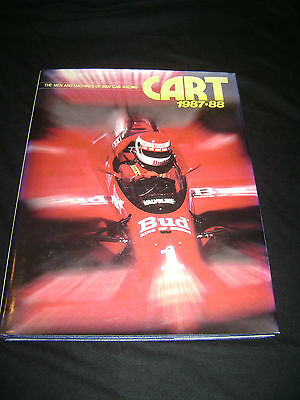 The Men And Machines of Indy Car Racing book CART 1987-88 autograph Al Unser Jr