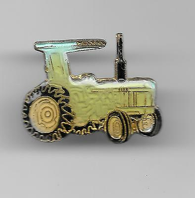 Vintage Light Blue Tractor with Hood old enamel pin