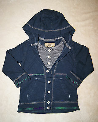 Next Boys Hooded Jumper With Layered Top Underneath Size 18-24 Months