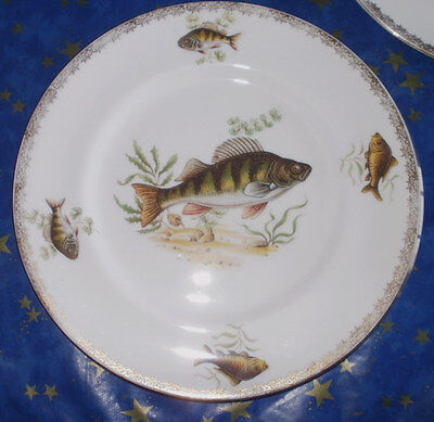 collection of 2 Royal Doulton  Fish Cabinet Plate