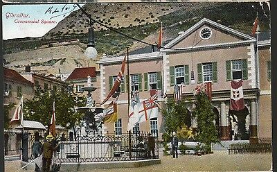 Cpa 1910 - Gibraltar, Le Square Commercial  -
