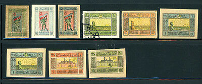 Azerbaijan sensational selection of 9 stamps-- Awesome Stamps - Great Value