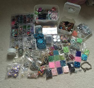 Bundle Beads Sequins Craft Wire Mirrors Jewellery Making Sewing