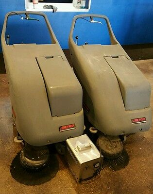 2 Betco BPS26 BPS 26 walk behind floor sweeper battery powered