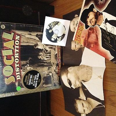 Social Distortion Hard Times & Nursery Rhymes Green Vinyl w/Autographed Poster