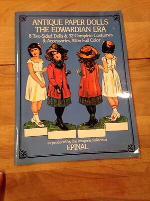 Antique Paper Dolls, The Edwardian Era.8 2-sided dolls & 32 costumes + more! NEW