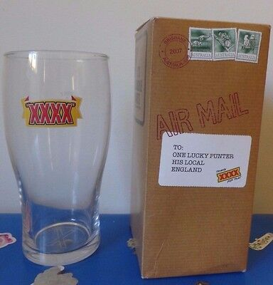 Collectable XXXX Beer Glass Man Cave stuff