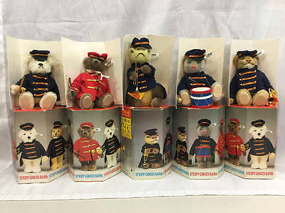 Steiff Golden Age Of The Circus Complete Band Set With Boxes