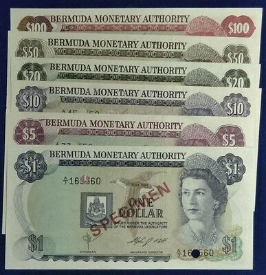 Bermuda Currency, Souvenir Collector's Set, $1,$5,$10,$20,$50, $100
