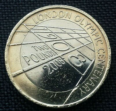 London Olympics centenary 2 pounds coin +FREE COIN CASE