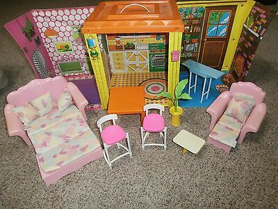 Authentic Vintage Barbie Country Living Home Mattel 1973 With Furniture