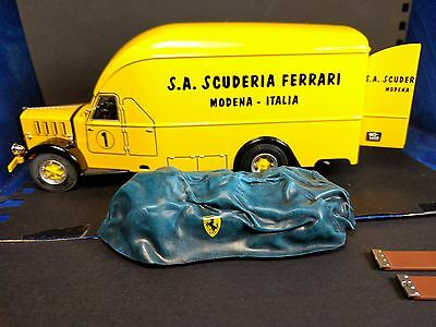 1:43 Exoto Ferrari Transporter and Squalo with cover