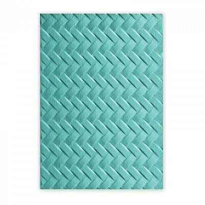 Sizzix 3-D Textured Impressions Embossing Folder - Woven    661261