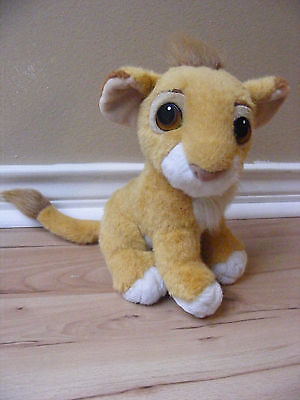 1993 Authentic Disney Lion King Baby Simba Cub Plush Toy Stuffed Animal Purr