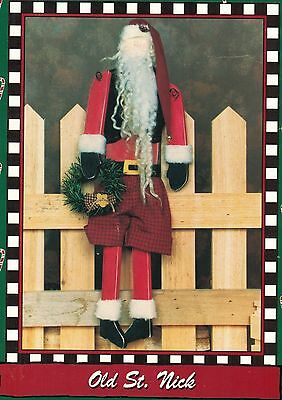 """L.A. Designs 20"""" Old St. Nick Christmas Woodworking Display Sew Pattern"""