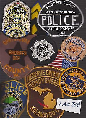 Lot Of Law Enforcement Police Security  Patches ( Law318)