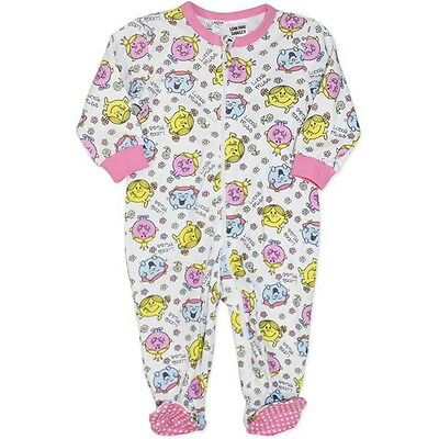 Little Miss (Mr Men) Soft Cotton All in One- Licensed - FAST 'N' FREE Postage