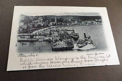 """ROTHESAY c1903 The Pier & """"Paddle Steamers belonging to the Railway Companies"""""""