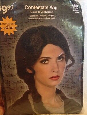 Contestant Wig Katniss Avatar Cosplay  Black Long Side Braid Adult One Size