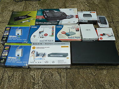 JOB LOT PC ACCESSORIES Untested Faulty WiFi Router Logitech Belkin Bluray Writer