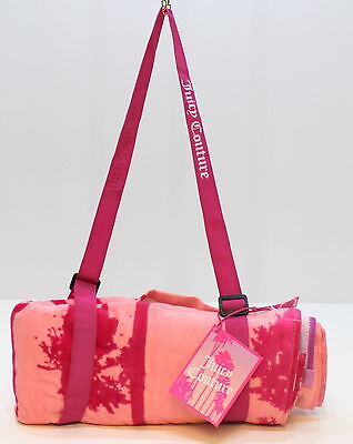 Juicy Couture Malibu Collection Ladies Pink Beach /gym Towel With Carry Handle