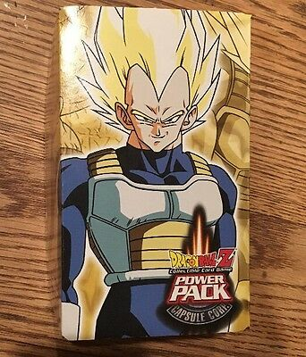 Dragonball Z Power Pack Capsule Corp Vegeta Box Dragon Ball Card Game NEW 2002