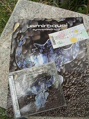 Jamiroquai Synkronized 1999 Original Japn Tour Book Program CD Concert Ticket