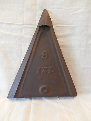 Old #8 Ixl Iron Plate / Horse-Drawn Plow Implement / Steampunk Art