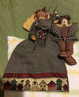 Set Of 2 Handmade Raggedy Anne Dolls