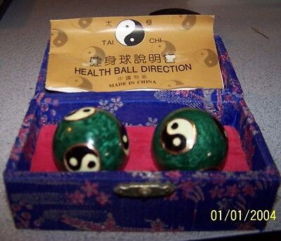 Baoding Musical Chinese Exercise Therapy Balls - Yin Yang Designs