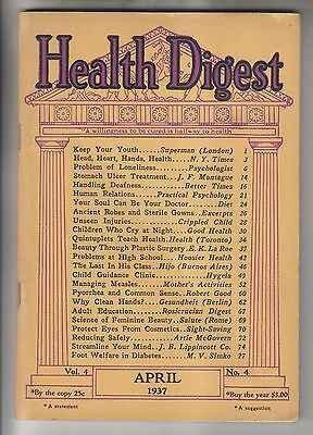 April 1937 Booklet - Health Digest - American Health Publishers Nyc