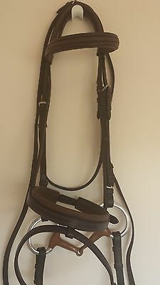 Used Brown Show Craft Bridle with Copper Bit & Reins
