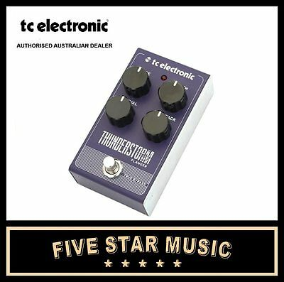 Tc Electronic Thunderstorm Flanger Vintage Style Guitar Effects Pedal