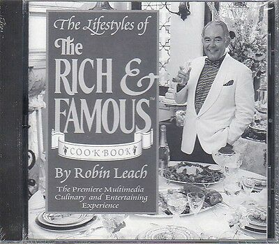 Lifestyles of the Rich & Famous Cookbook CD-ROM for Windows - NEW in JC