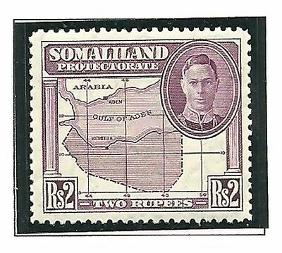 Album Treasures Somaliland Protectorate Scott # 105  2R George VI Map MNH
