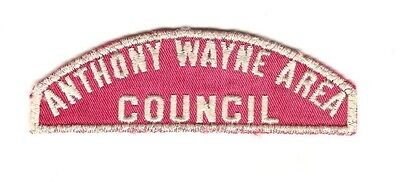"Boy Scout Patch "" ANTHONY WAYNE AREA / COUNCIL "" RWS"